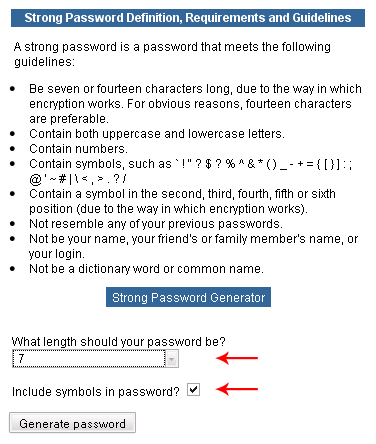 Use strong passwords for your login