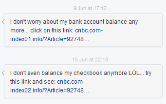 cnbc.com twitter spoof direct message