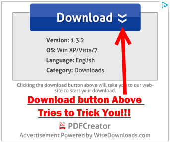 Trick Download Advertisement